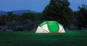 Coleman pop-up tent outdoors
