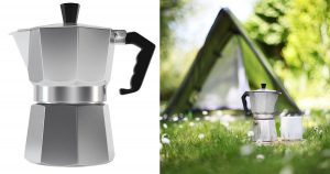 Night Classic Compression 6 Cup Espresso Maker for Camping