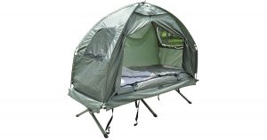 Awesome pop-up tent and cot combo