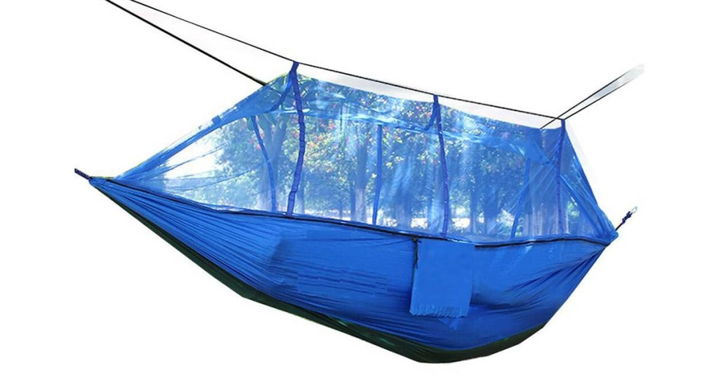 creative case two person camping hammock with mosquito net
