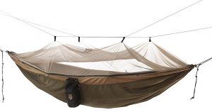 The Grand Trunk Skeeter Beeter Pro Mosquito hammock is a great option for bug free sleep.