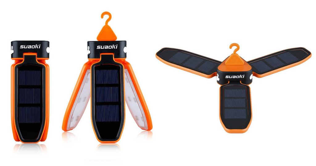 Suaoki Collapsible Clover Style Solar Charged LED Tent Lantern