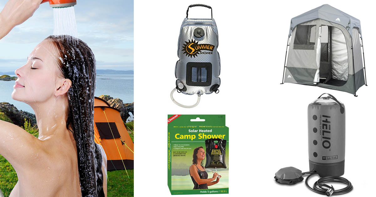 The five best solar camp showers to help you stay clean in the great outdoors.