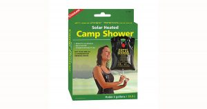 Cheap and compact solar camping and backpacking solar shower