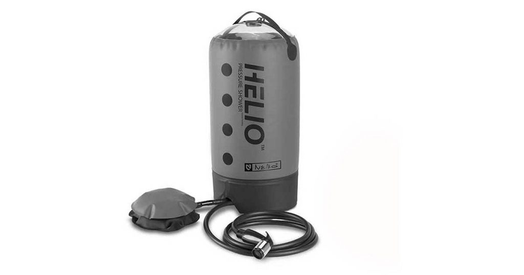 Nemo Equipment Helio foot pump powered solar shower