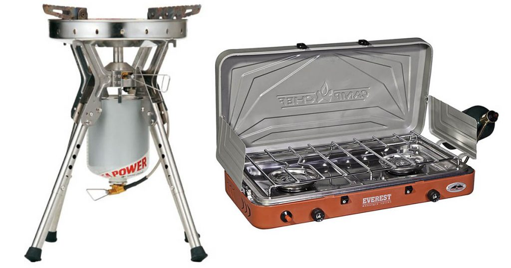 Great camp stoves for camping in a campground or backpacking through the wilderness