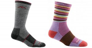 Thes excellent hiking and backpacking socks from Darn Tough are great outdoors or in the house.