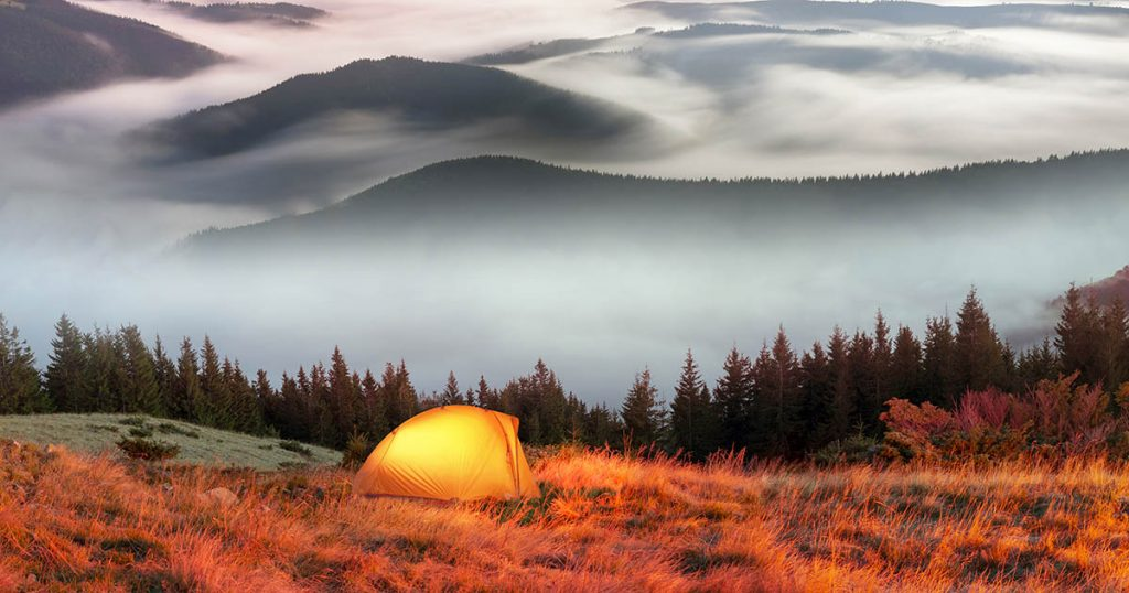 Tips for staying warm and comfortable when camping in the Fall