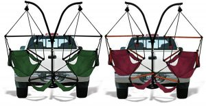 Trailer hitch camping chairs help you relax almost anywhere.