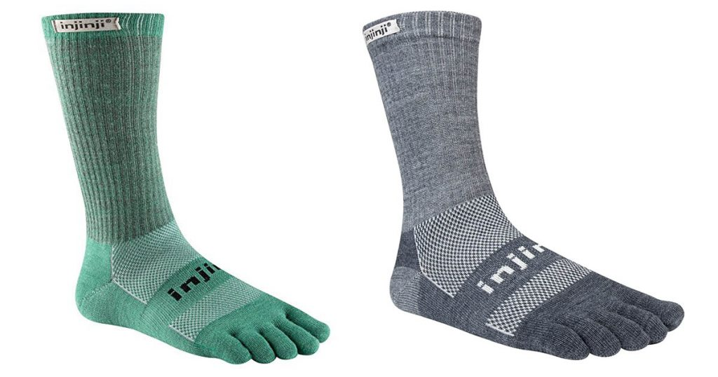 These unique socks from Injinji take a little getting used to, but they are an excellent option for hiking and camping.