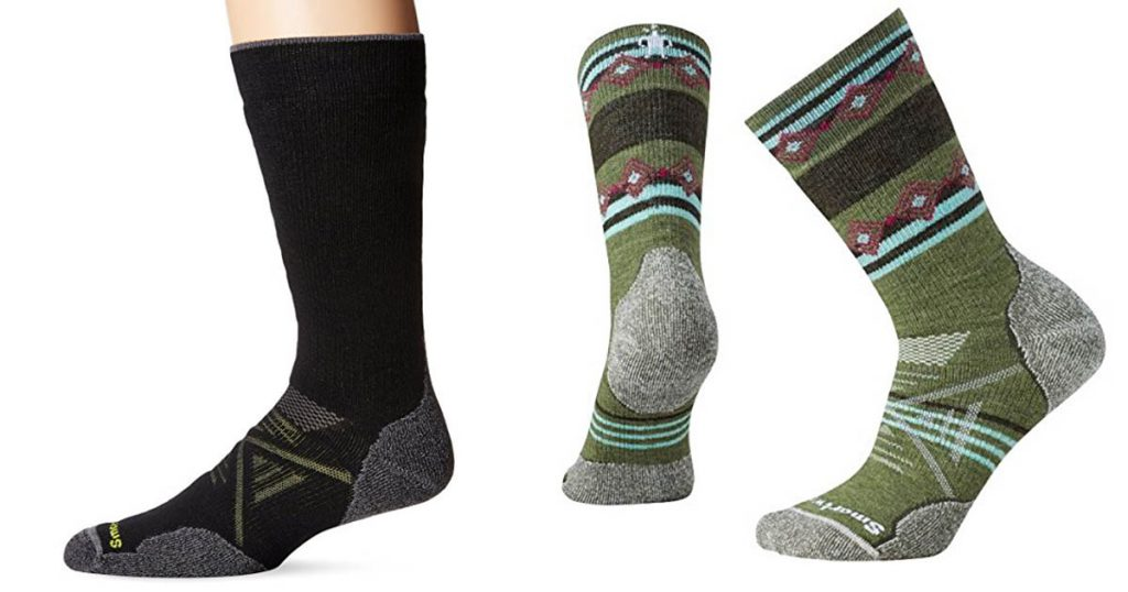 The Smartwool PhD Outdoor Medium Crew socks are durable and comfortable