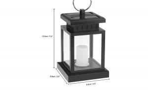 The black Houkiper Vintage Waterproof Solar Powered Lantern.