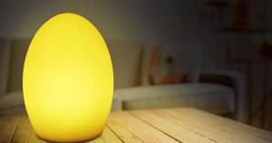 This egg shaped light is a fun waterproof LED light for the outdoors.