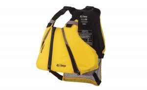 The Yellow ONYX MoveVent Curve Paddle Sports Life Vest.
