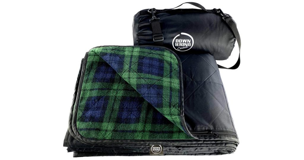 This picnic blanket is great for cold weather outings to the park or stadium.