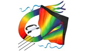 Huge rainbow kite from aGreatlife for the beach.