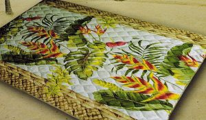 The Kauhale Living Hawaiian Waterproof Picnic Quilt Mat is ideal for the beach.