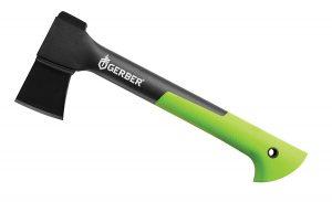 Gerber Sport Axe with green handle.