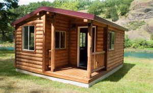 The Romtec Birdwatcher Prefabricated Log Cabin in nature.
