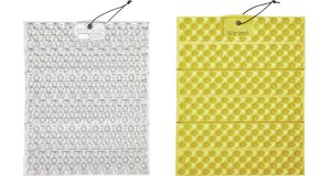 Yellow and white Therm-a-Rest Z Seat cushion insulated sitting pad.