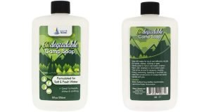 Front and back views of Direct 2 Boater Biodegradable Camp Soap